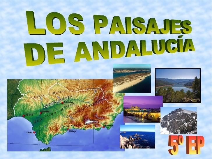 LOS PAISAJES DE ANDALUCÍA 5º EP