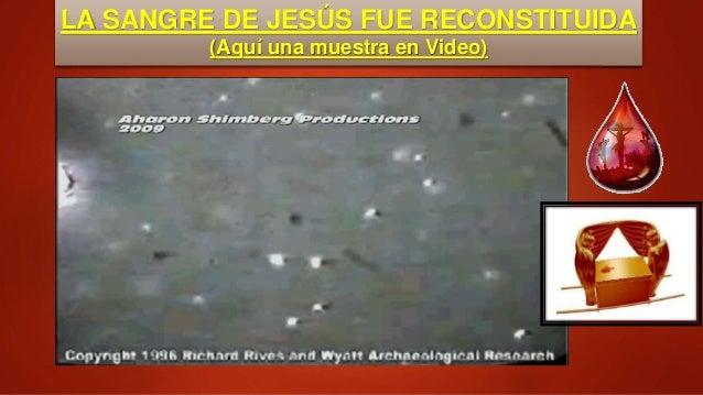 LA SANGRE DE JESÚS FUE RECONSTITUIDA (Aquí una muestra en Video)