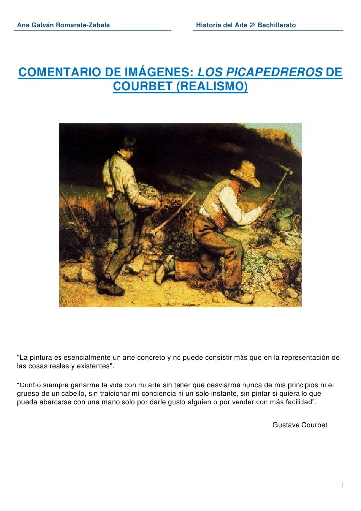 Ana Galván Romarate-Zabala                             Historia del Arte 2º BachilleratoCOMENTARIO DE IMÁGENES: LOS PICAPE...