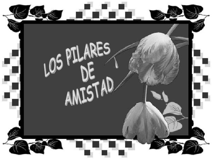 LOS PILARES DE  LA AMISTAD