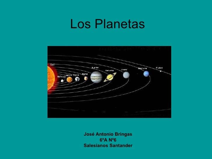 Los Planetas José Antonio Bringas 6ºA Nº6 Salesianos Santander