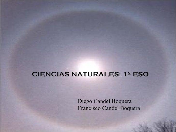 Diego Candel Boquera Francisco Candel Boquera CIENCIAS NATURALES: 1º ESO