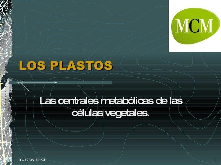 LOS PLASTOS Las centrales metabólicas de las células vegetales.