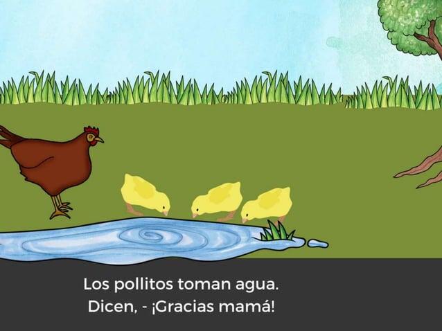 Los pollitos y su mamá