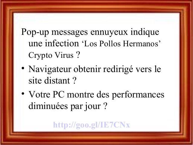 Pop-up messages ennuyeux indique une infection 'Los Pollos Hermanos' Crypto Virus ? • Navigateur obtenir redirigé vers le ...