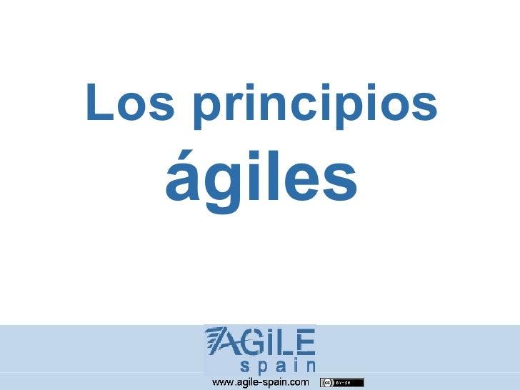 Los principios    ágiles