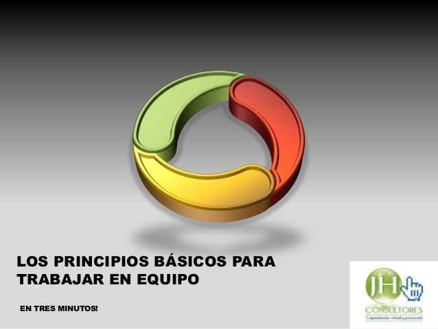 LOS PRINCIPIOS BÁSICOS PARA TRABAJAR EN EQUIPO EN TRES MINUTOS!
