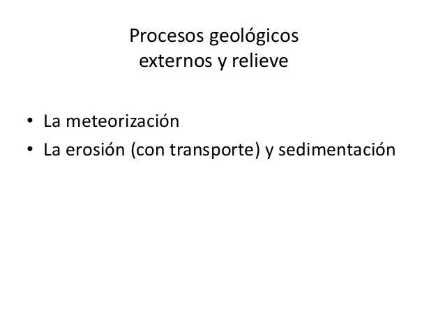 Los procesos geológicos externos y el relieve. Slide 3