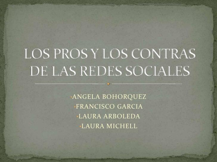 <ul><li>ANGELA BOHORQUEZ