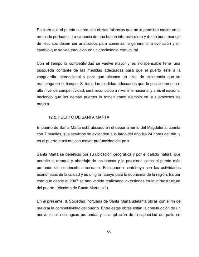 los puertos maritimos en la competitividad colombiana