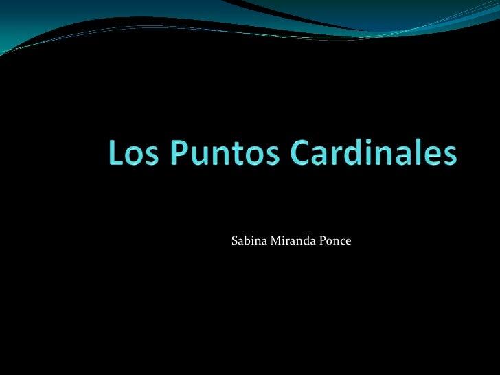Sabina Miranda Ponce