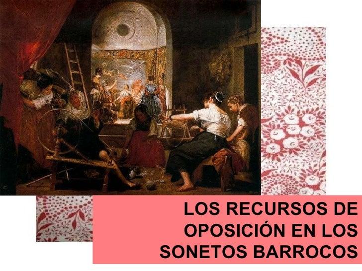 LOS RECURSOS DE OPOSICIÓN EN LOS SONETOS BARROCOS