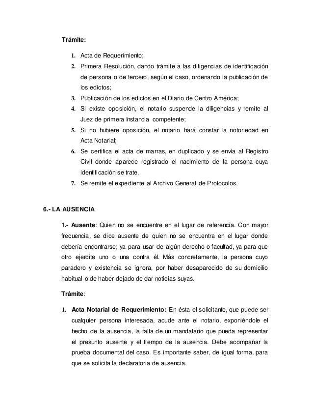 Los registros en guatemala