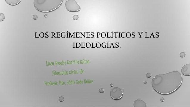 LOS REGÍMENES POLÍTICOS Y LAS IDEOLOGÍAS.