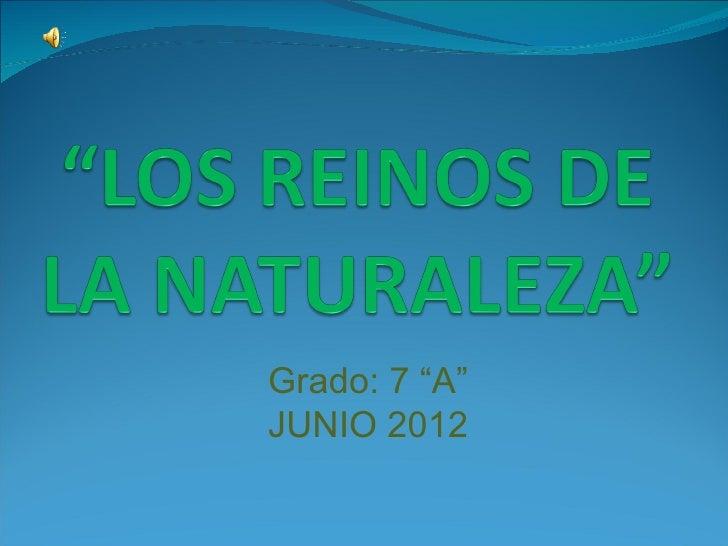 """Grado: 7 """"A""""JUNIO 2012"""