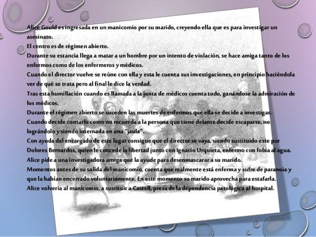 AL FINAL DELLIBRO NO SESABE SIREALMENTE ESUNAENFERMA MENTAL O LOHA FINGIDO LA PROTAGONISTA ANTE TODO ELMUNDO PARA LLEVAR A...