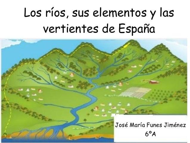 Los ríos, sus elementos y las vertientes de España José María Funes Jiménez 6ºA