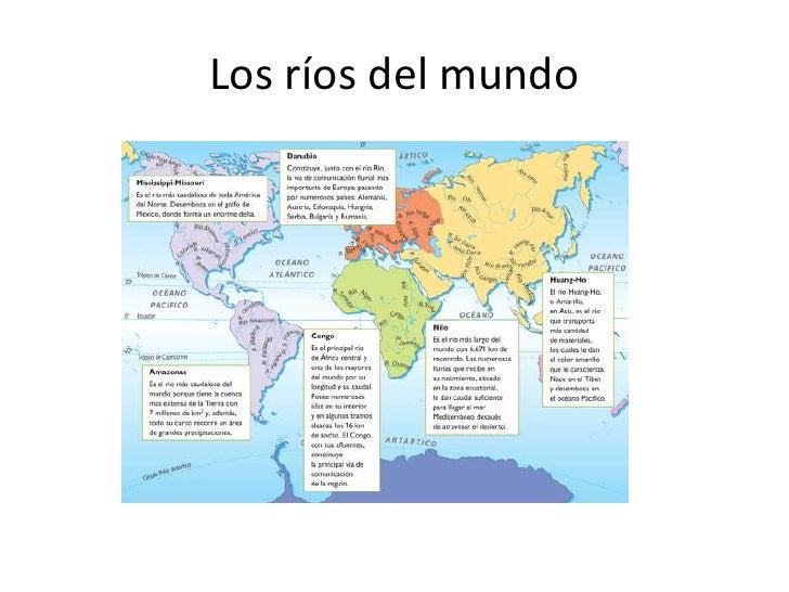 Mapa Rios Del Mundo.Los Rios Del Mundo
