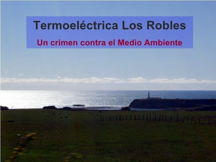 Termoeléctrica Los Robles Un crimen contra el Medio Ambiente
