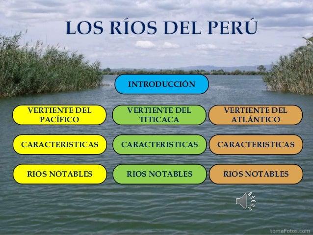 VERTIENTE DEL PACÍFICO CARACTERISTICAS RIOS NOTABLES INTRODUCCIÓN VERTIENTE DEL ATLÁNTICO CARACTERISTICAS RIOS NOTABLES VE...