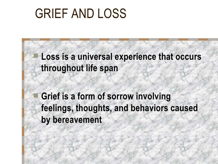 Loss And Grief Slide 2