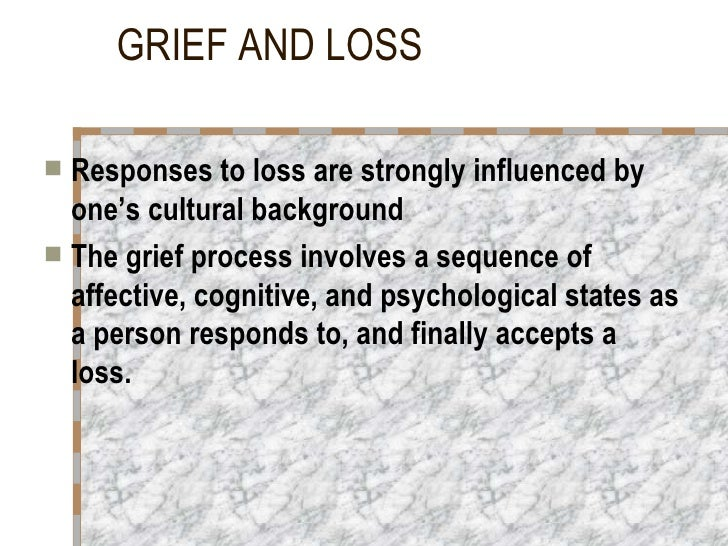 Loss And Grief Slide 3