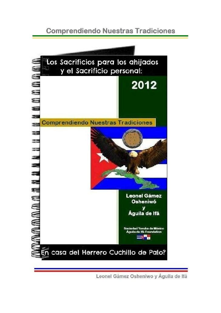 © 2012-BIBLIOTECAS SOCIEDAD YORUBA DE MEXICO Y AGUILADE IFA FOUNDATION- EJEMPLAR GRATUITO-Los Sacrificios para los Ahijado...