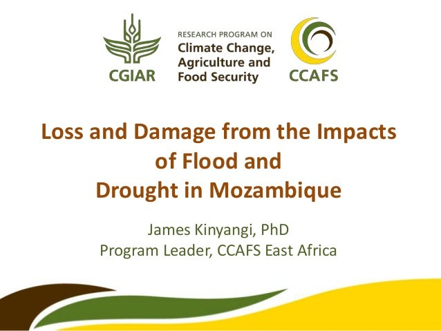 Loss and Damage from the Impacts of Flood and Drought in Mozambique James Kinyangi, PhD Program Leader, CCAFS East Africa
