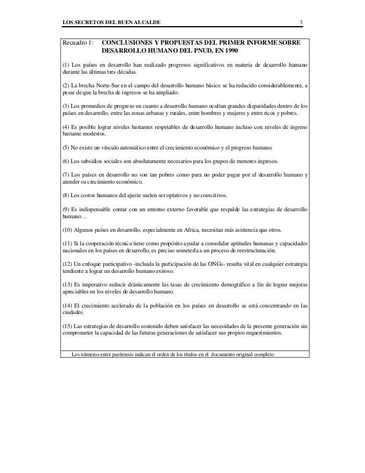 LOS SECRETOS DEL BUEN ALCALDE                                                                          3Recuadro 1:      C...
