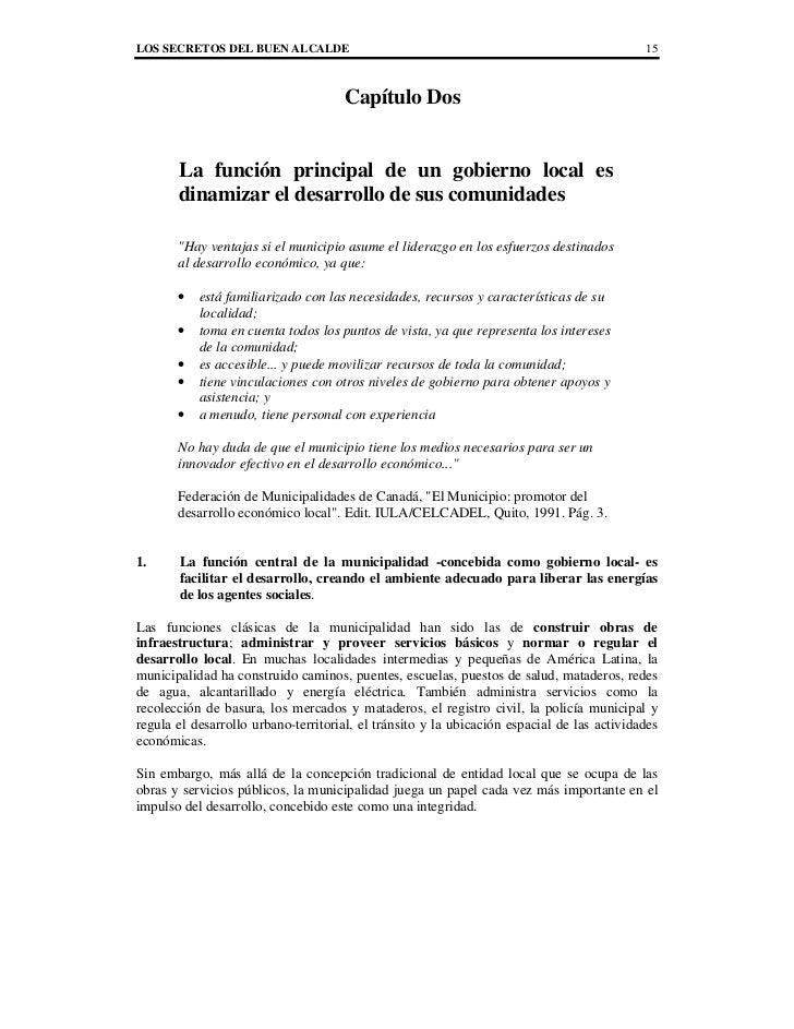 LOS SECRETOS DEL BUEN ALCALDE                                                               15                            ...