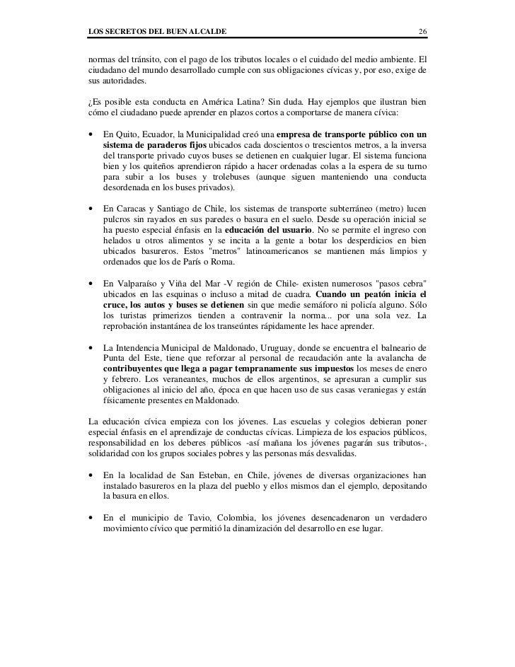 LOS SECRETOS DEL BUEN ALCALDE                                                            26normas del tránsito, con el pag...