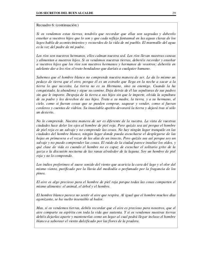LOS SECRETOS DEL BUEN ALCALDE                                                             29Recuadro 6: (continuación:)Si ...