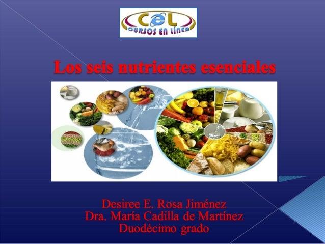 Los nutrientes son las sustancias químicas que seencuentran en los alimentos. El cuerpo las utiliza para obtenersu energía...