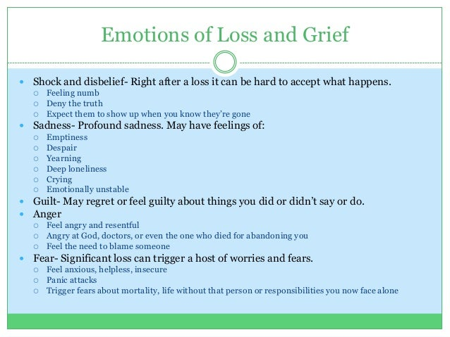 research papers on grief and loss Following the death of a loved one, most people experience bereavement, a feeling of desolation or loss, grief, and deep.