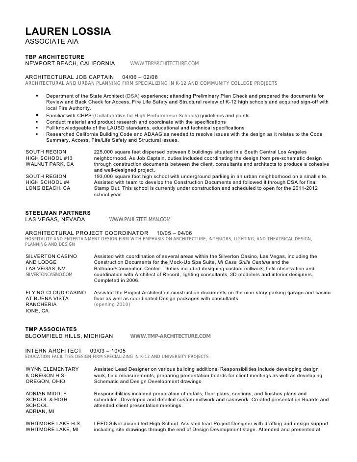 lossia resume arch