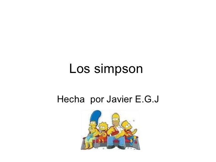 Los simpson  Hecha  por Javier E.G.J