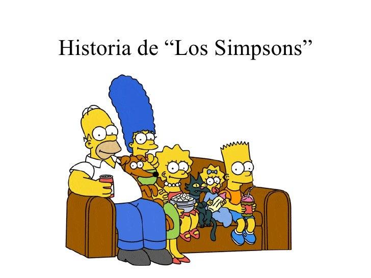 """Historia de """"Los Simpsons"""""""