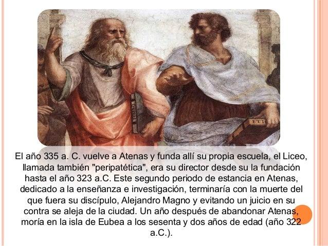 """Para Aristóteles la """"teoría de las Ideas"""" partía de la búsqueda de Sócrates para encontrar la """"esencia"""" de las cosas y en ..."""