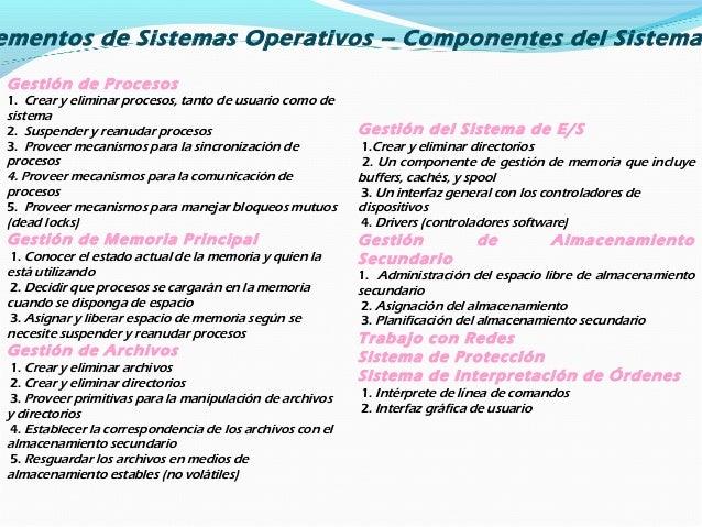 Estructura jerárquica de un sistema operativo