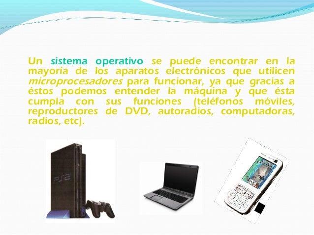Un sistema operativo desempeña 5 funciones básicas en la operación de un sistema informático: Funciones básicas 1. Suminis...