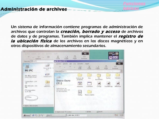 dministración de tareas Los programas de administración de tareas de un sistema operativo administran la realización de la...