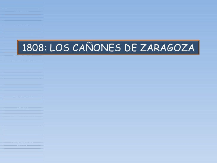 1808: LOS CAÑONES DE ZARAGOZA