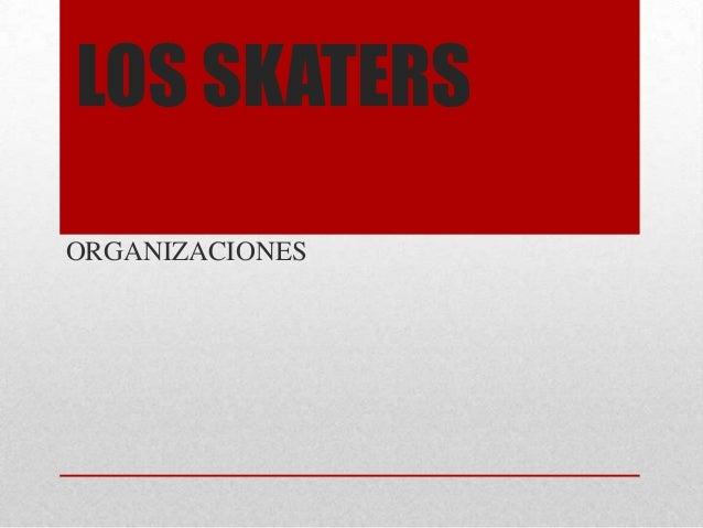 LOS SKATERS ORGANIZACIONES