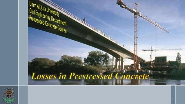 Loss of pre stress in pre-stressed concrete  Slide 1