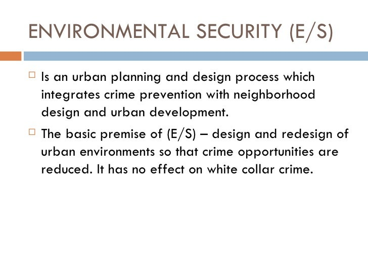 crime prevention to the concept of defensible space Crime prevention and  defensible space, community safety, the british city and the  frequently ignored issue within the concept of defensible space.