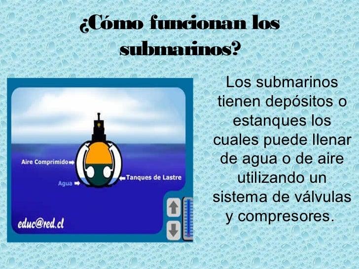Los submarinos - Como funcionan los emisores termicos ...