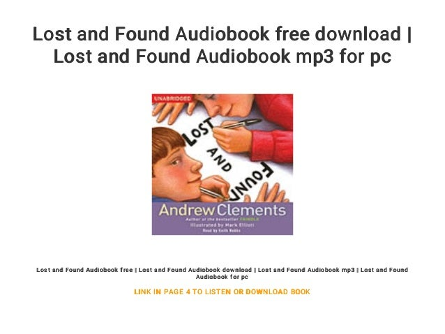 Download Lost And Found By Andrew Clements