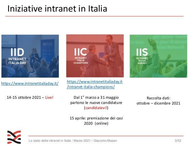 Lo stato delle intranet in italia 2020   webinar - [intranet management] Slide 3