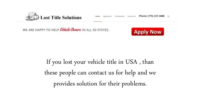 Lost Boat Title Replacement Services In Usa