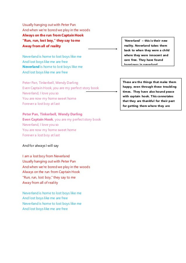 Lost Boy Lyric Analysis Explain your version of song meaning, find more of sia lyrics. lost boy lyric analysis